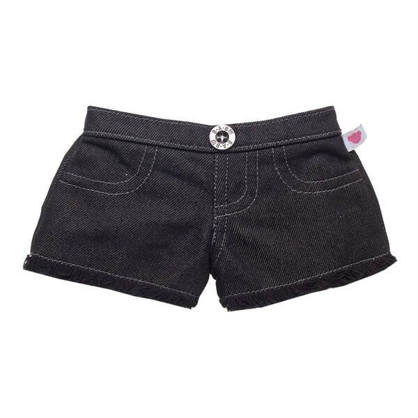 Online Exclusive Black Denim Frayed Shorts - Build-A-Bear Workshop®