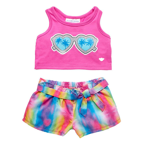 Pink Tie-Dye Summer Outfit 2 pc. - Build-A-Bear Workshop®
