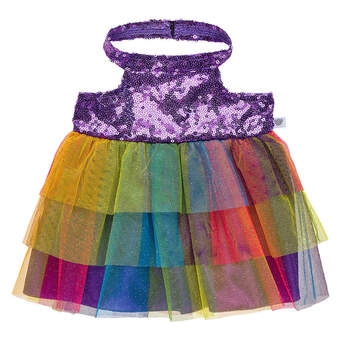 Purple Rainbow Sequin Dress - Build-A-Bear Workshop®
