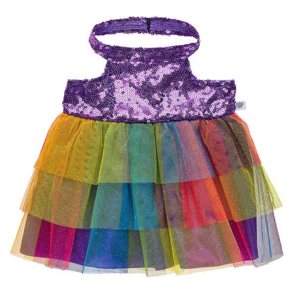 Purple Rainbow Sequin Dress - Build-A-Bear Workshop®
