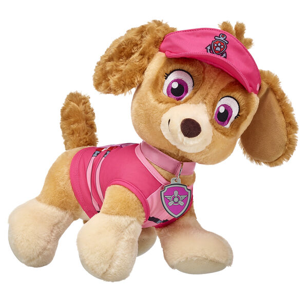 Pups away! Skye, the Cockapoo puppy, is the PAW Patrol daredevil. This sweet and smart pup flies a helicopter. Personalize her with outfits and accessories to make the PAWfect unique gift for any PAW Patrol recruit.© 2016 Spin Master PAW Productions Inc. All Rights Reserved. PAW Patrol and all related titles, logos and characters are trademarks of Spin Master Ltd. Nickelodeon and all related titles and logos are trademarks of Viacom International Inc. at Build-A-Bear®