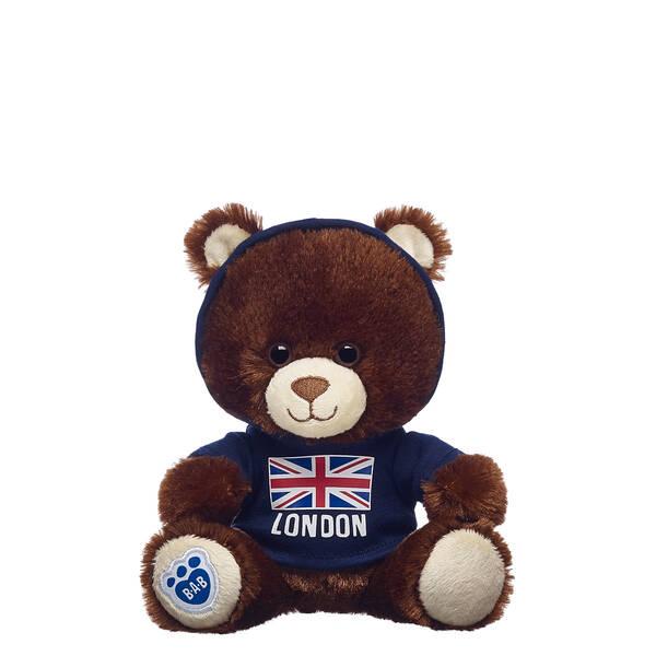 Build-A-Bear Buddies™ Dark Brown Bear with Union Jack T-Shirt - Build-A-Bear Workshop®