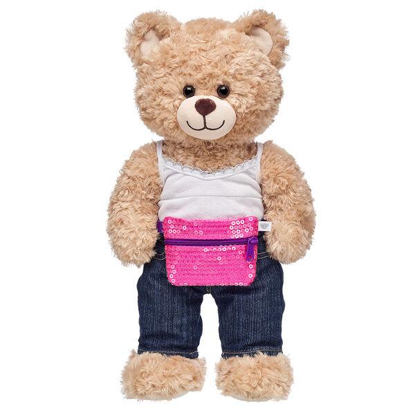 Pink Sequin Waist Pack, , hi-res