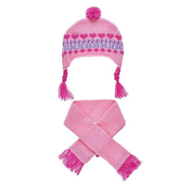 Pink Fair Isle Hat & Scarf Set 2 pc.