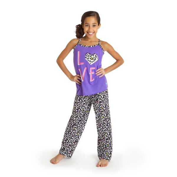 Kids LOVE Leopard Pyjamas 2 pc. Size 7/8, , hi-res