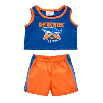 Orange & Blue Shark Week Swim Set for Soft Toys - Build-A-Bear Workshop®