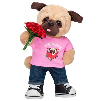 Online Exclusive Love Pug Bouquet Gift Set, , hi-res