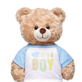 "Share the most exciting news with an adorable T-shirt that's the perfect size for any furry friend! This cute baseball style tee has light blue sleeves and a charming ""It's A Boy"" graphic on the chest. Whether you're doing the big reveal yourself or giving this special T-shirt as a gift, this is the perfect choice for making an unforgettable memory."