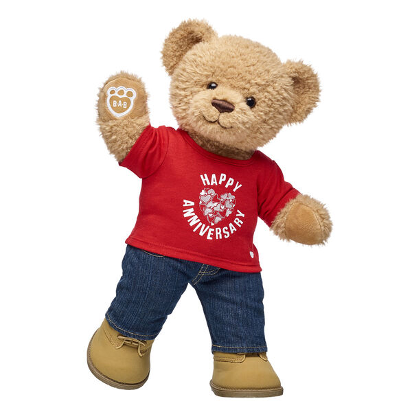 Online Exclusive Happy Anniversary Crumb Cake Bear Gift Set, , hi-res