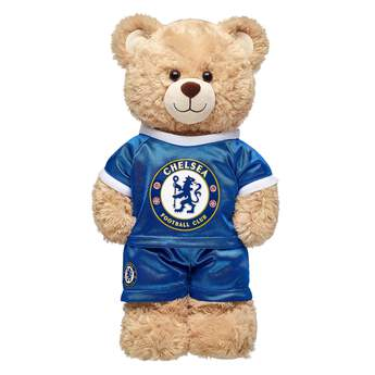 Goal! Cheer on Chelsea F.C. with this blue and white football jersey that's the perfect size for your furry friend!