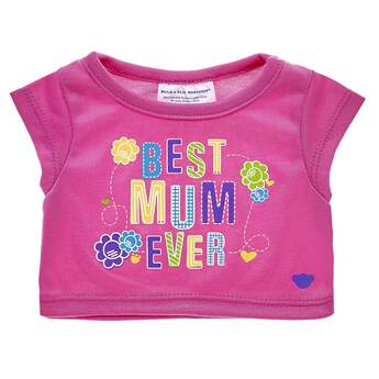"""Show the world's best mum just how much you care by letting your furry friend's shirt do all the talking! This cute pink T-Shirt says """"Best Mum Ever"""" in colourful lettering and is accompanied by adorable flowers and hearts. Pair this heartfelt tee with outfits and accessories to make the perfect gift!"""