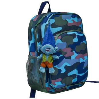 Add some hair-raising fun to your backpack with this grumpy Branch clip-on from DreamWorks Trolls. With his wild, styleable hair, brown pants and leafy green vest, Branch features a DreamWorks Trolls logo on one foot and the B-A-B logo on the other. DreamWorks Trolls © 2016 DreamWorks Animation LLC. All Rights Reserved.