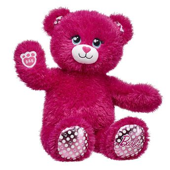For the first time ever, Barbie™ gets the Build-A-Bear treatment with sparkly pink fur and shiny polka dot paw pads. Fans and collectors of all ages can dress Barbie™ Bear in cool fashions, add her 5-in-1 phrases and hit the road with her plush pink convertible! Free shipping on orders over $45. Shop now!