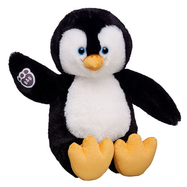 Things gets pretty chilly at the South Pole. Good thing this little cuddler is there to warm up the white wilderness! The Arctic Penguin Chick has soft black and white fur with a yellow beak and feet and the B-A-B logo on its wing.