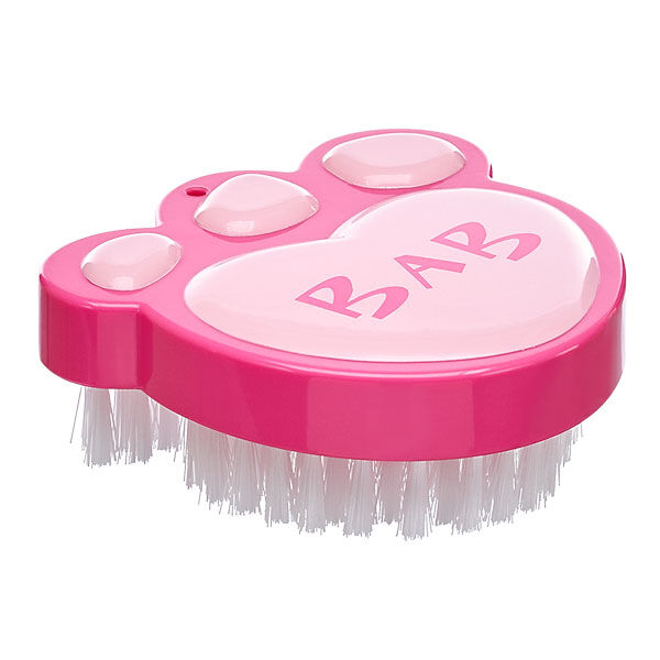 Keep your furry friend looking their best with this Fuchsia Paw Brush! The teddy bear-sized pink paw brush is perfect for fluffing fur or styling wigs.