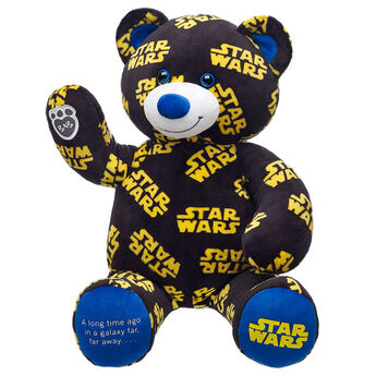 "The ultimate bear for the ultimate Star Wars fan. One paw features the famous line ""A long time ago in a galaxy far, far away..."" Personalise it with clothing and accessories to make the perfect unique gift. © & ™ Lucasfilm Ltd."