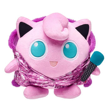 """""""Jigglypuff is known for singing soothing lullabies to make its opponents drowsy. Add this plush microphone wristie to your Jigglypuff furry friend so it can lull its opponents to sleep! ©2018 The Pokémon Company International. ©1995–2018 Nintendo / Creatures Inc. / GAME FREAK inc. TM, ®, and character names are trademarks of Nintendo.  """""""