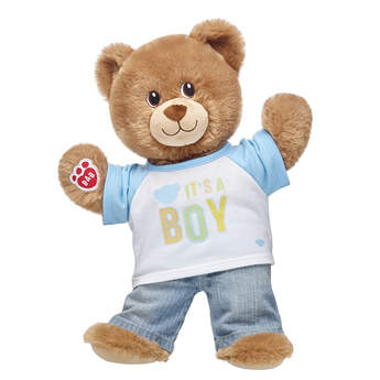 IT'S A BOY - and Lil' Brownie Cub is ready to celeBEARate! This cuddly gift set is the perfect way to commemorate the exciting news. This adorable set makes a heartfelt gift for gender reveal parties, showers and hospital visits! <p>Price includes:</p>  <ul>    <li>Lil' Brownie Cub</li>     <li>It's A Boy T-Shirt</li>    <li>Light Classic Jeans</li> </ul>