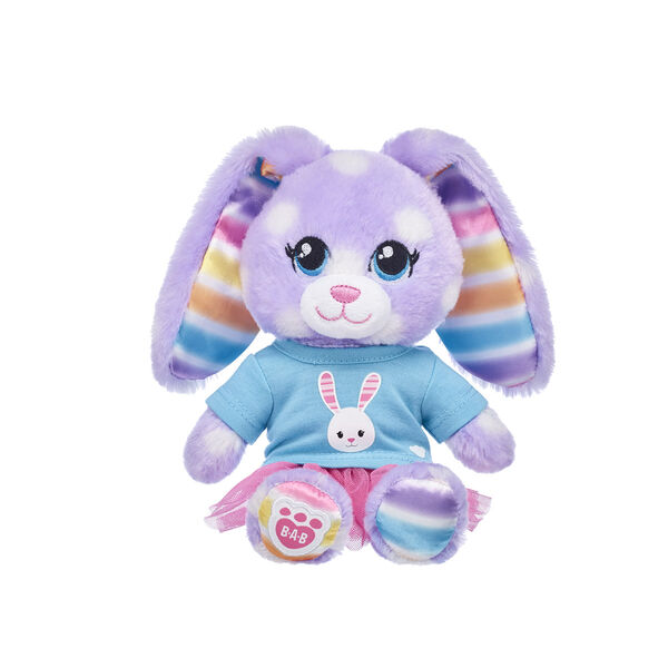 Build-A-Bear Buddies™ Purple Polka Dots Bunny Gift Set, , hi-res