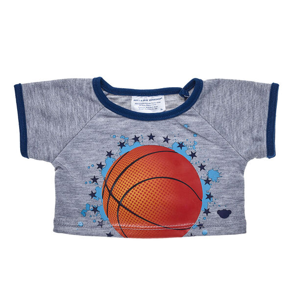 FUR court press! If your furry friend has lots of hoop dreams, be sure to dress them in this cool basketball T-shirt. It's a fun way to dribble into style!