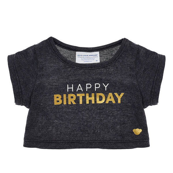 Online Exclusive Metallic Birthday T-Shirt - Build-A-Bear Workshop®