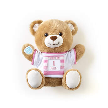 "Little Cub Hugs Teddy Pink ""Today I Am"" Baby Gift Set, , hi-res"