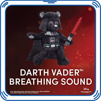 Darth's breathing comes to life in any furry friend. Add the sound of some serious fun and rule your universe! & ™ Lucasfilm Ltd.