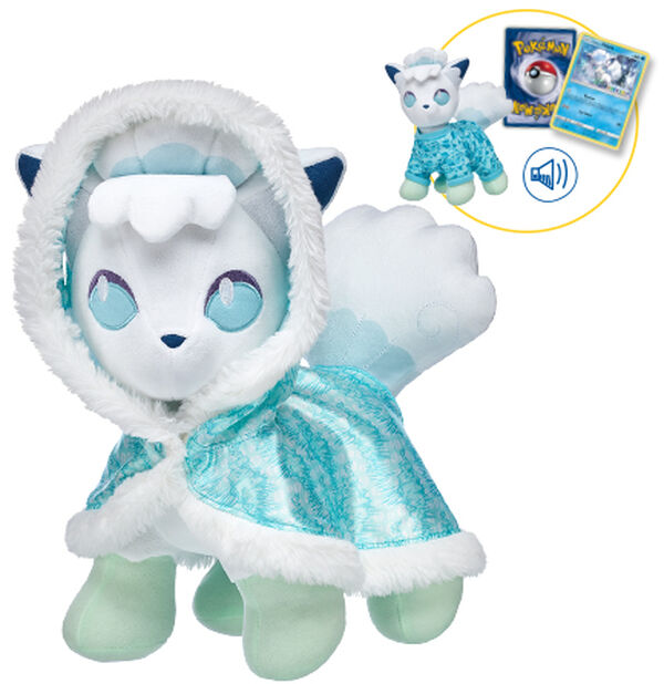 Welcome to the Alola region, Pokémon Trainers! Alolan Vulpix is the first-ever Ice-type and regional variant Pokémon at Build-A-Bear Workshop!
