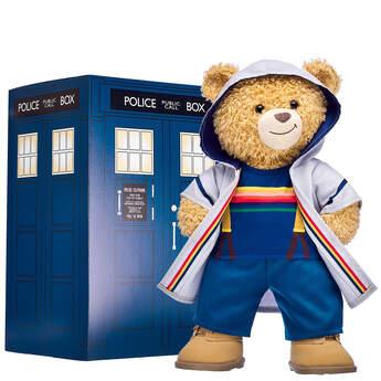 Online Exclusive Doctor Who Bear Thirteenth Doctor TARDIS Gift Set, , hi-res