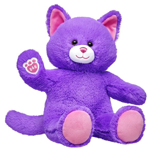 Lil' Plum Kitty is ready for playtime! This classic stuffed kitty features plum-coloured fur, soft brown eyes, pink ears and paw pads and the B-A-B pawprint on its right paw. An adorable playtime companion, this online-exclusive stuffed kitty can be outfitted with clothing, sounds and accessories to make it a one-of-a-kind furry friend! This item cannot be purchased unstuffed.