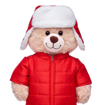 Online Exclusive Red Winter Coat & Hat 2 pc. - Build-A-Bear Workshop®