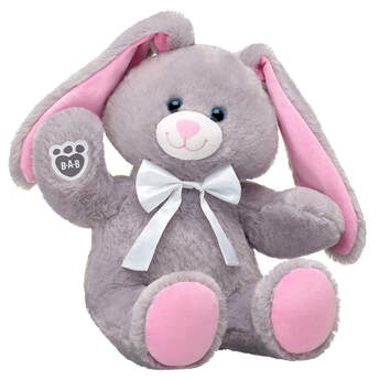 Online Exclusive Garden Grey Bunny with White Bow, , hi-res