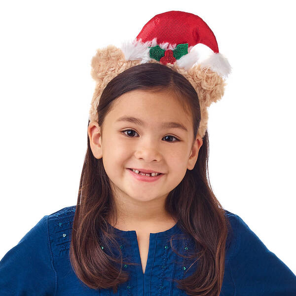 Children's Santa Hat Bear Headband - Build-A-Bear Workshop®
