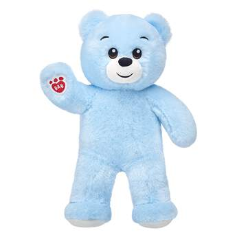 You'll feel anything but blue when you get a hug from Lil' Blue Cub! With light blue fur, dark brown eyes and a cheeky smile, this soft furry friend brings smiles wherever it goes.