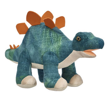 green plush stegosaurus stuffed dinosaur