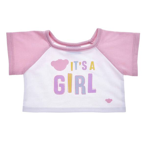 "Share the most exciting news with an adorable T-shirt that's the perfect size for any furry friend! This cute tee has light pink sleeves and a charming ""It's A Girl"" graphic on the chest. Whether you're doing the big reveal yourself or giving this special T-shirt as a gift, this is the perfect choice for making an unforgettable memory."