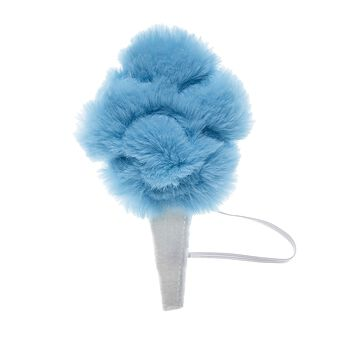 Yum! Your Kabu furry friend can enjoy a sugary sweet treat with this plush cotton candy wrist accessory. This bright blue cotton candy wristie is super fluffy and attaches to your friend's paw! Shop online or in store at Build-A-Bear Workshop!