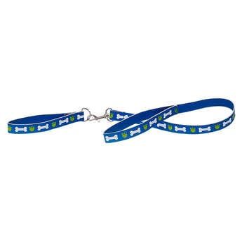 Keep your Promise Pet close and safe with this blue leash and collar set. Now you can go on walks with a little style.
