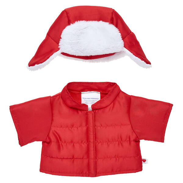 Online Exclusive Red Winter Coat & Hat 2 pc. - Build-A-Bear Workshop®