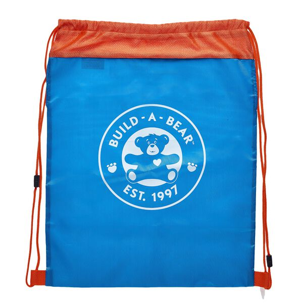 Blue & Orange Reusable Drawstring Backpack, , hi-res