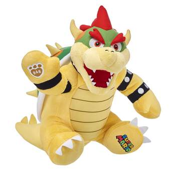 Be the boss with Make-Your-Own Bowser! The troublemaking King of the Koopas is ferociously fun when downsized to furry friend form. With his awesome back shell and a cool Super Mario™ graphic on the paw pad, Bowser is an epic addition to your collection! ™ & © 2017 Nintendo.