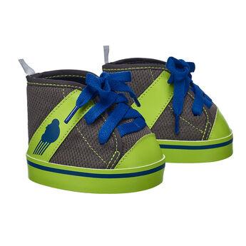 Grey & Green Athletic Shoes, , hi-res