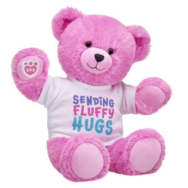 Online Exclusive Fluffy Pink Bear Gift Set, , hi-res