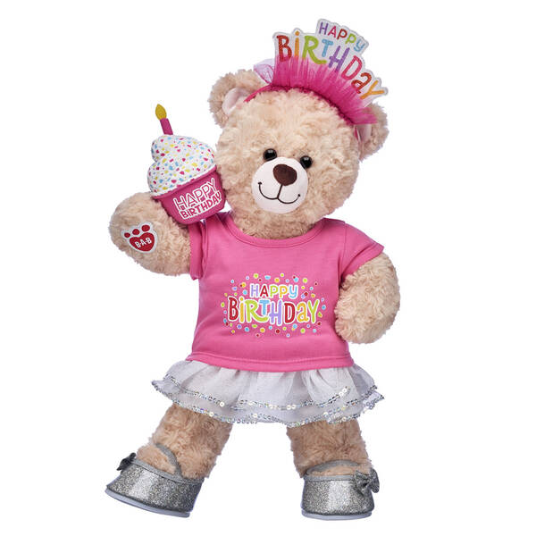 Happy Hugs Teddy Pink Cupcake Birthday Gift Set, , hi-res