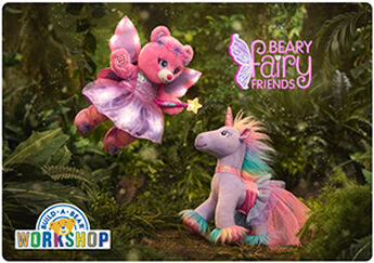 The most wonderful fairy tale of all is the one you make with friends! Open the door to an enchanting world of fun with this Beary Fairy Friends E-Gift Card to Build-A-Bear Workshop!