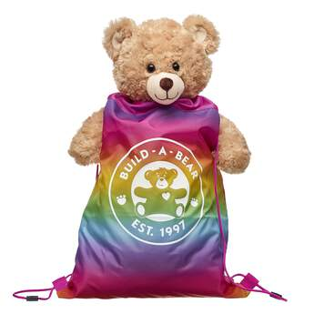Take your furry friend with you wherever you go with this stylish Rainbow Backpack! Shop for unique stuffed animal clothing & accessories at Build-A-Bear.