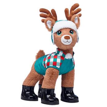 Santa's Reindeer Puffer Coat & Hat Gift Set, , hi-res