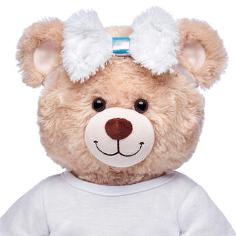 Fuzzy White Hair Bow - Build-A-Bear Workshop®