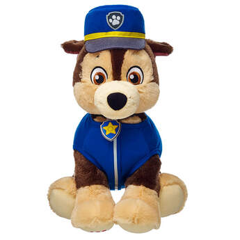 Chase , the German Shepherd police pup from PAW Patrol, looks great in his official uniform. His Vest and Hat Set are royal blue with lots of details.