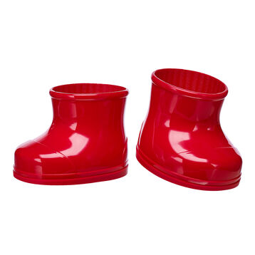 Keep your furry friend's paws warm and dry in any season with these shiny red rubber boots. This classic pair of boots pairs perfectly with any outfit and adds a wonderful pop of colour to your furry friend's look.